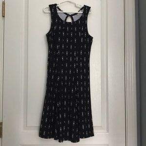 Girls size extra small black with white print